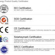 heat pipe certifikati